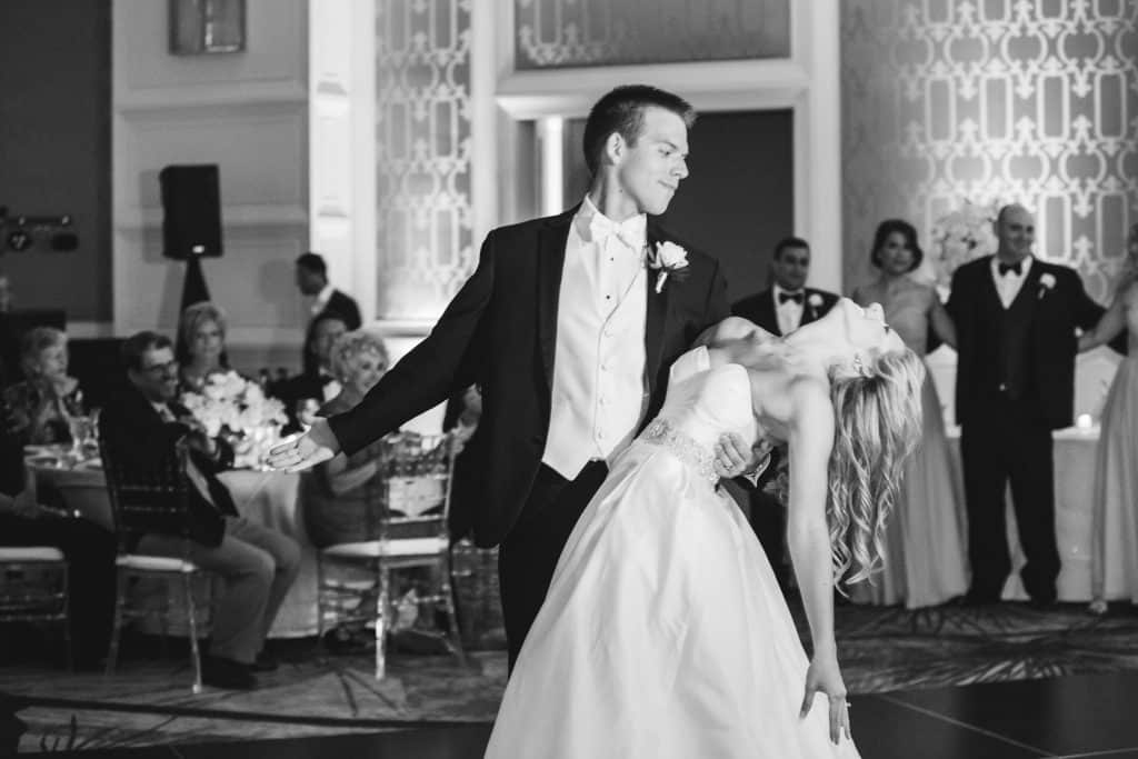 Bride and groom first dance at Four Seasons