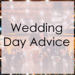 wedding day advice