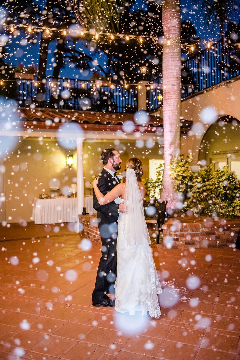 snow falls in orlando at mission inn resort