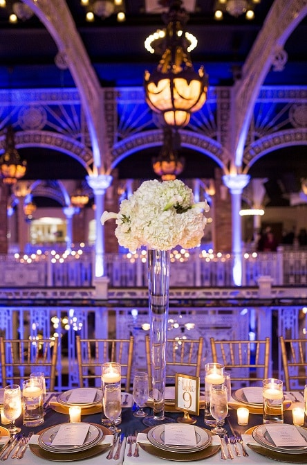 orlando event venue orchid garden with blue uplighting