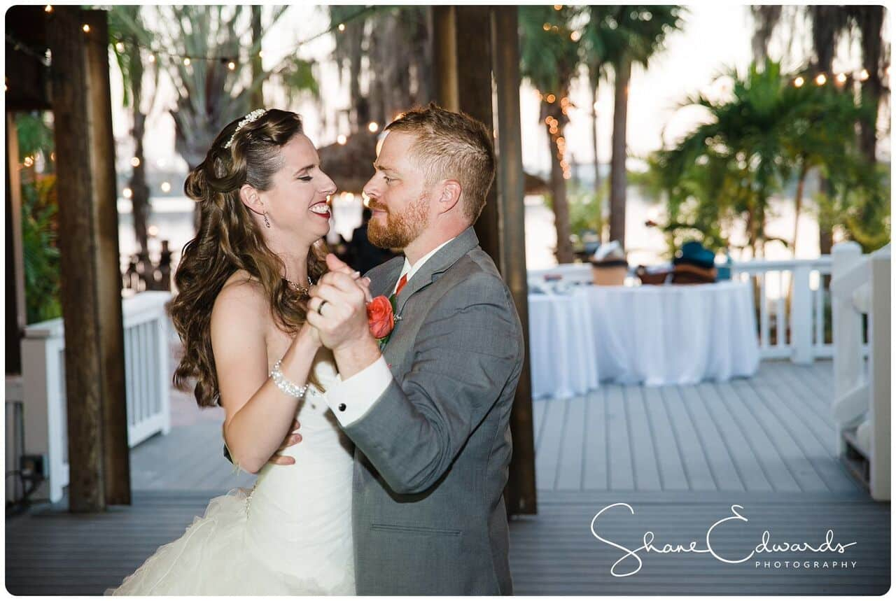 DJ Entertainment at Paradise Cove wedding bride and groom first dance