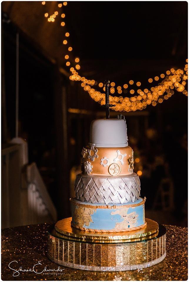 DJ Entertainment at Paradise Cove wedding cake