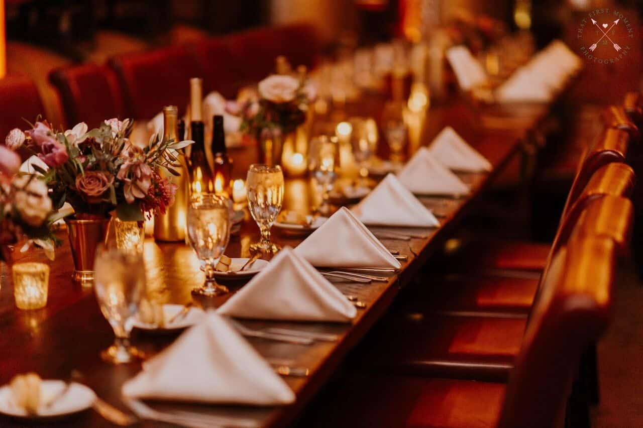 Orlando wedding at Quantum Leap Winery reception dining table