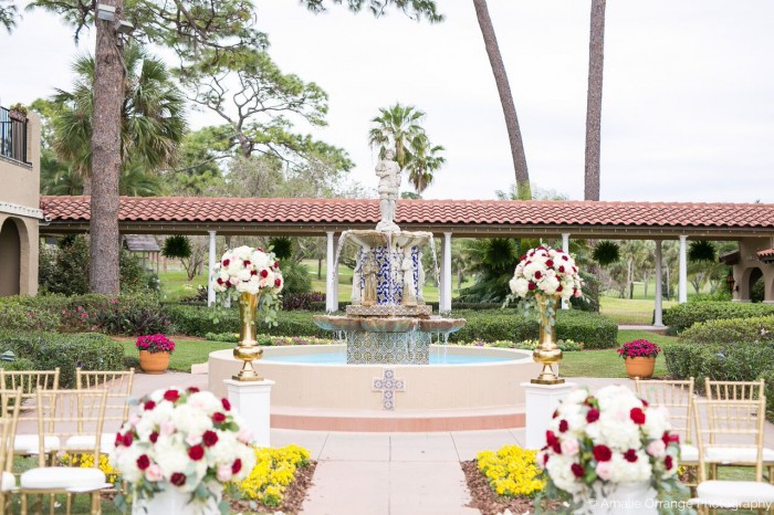 Orlando wedding at Mission Inn Resort ceremony setup area