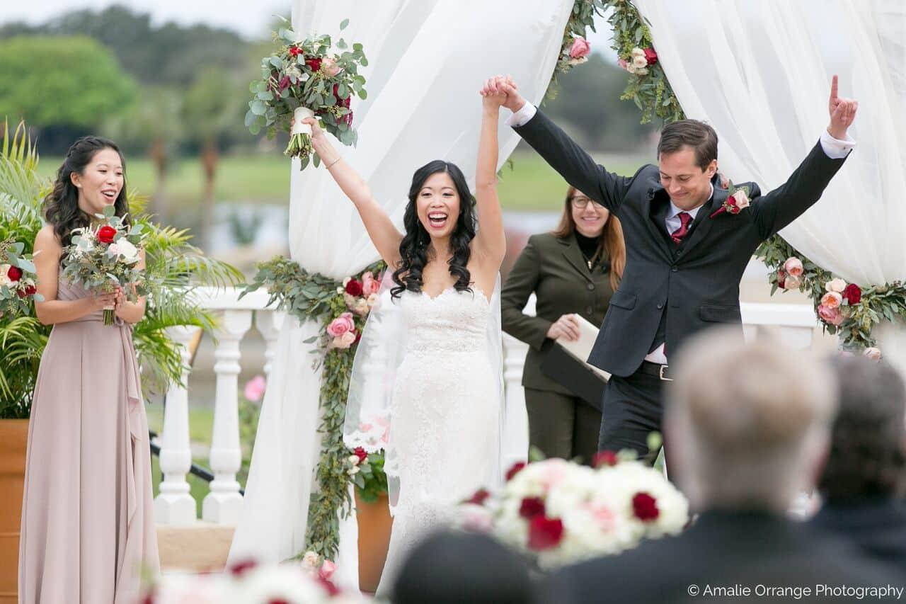 Orlando wedding at Mission Inn Resort ceremony bride and groom