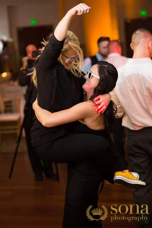 Orlando united wedding at Lake Mary Event's Center reception dancing with Kristin from Our DJ Rocks
