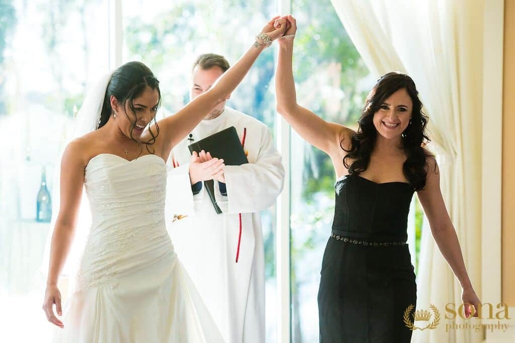 Orlando united wedding at Lake Mary Event's Center couples ceremony