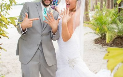 Paradise Cove Beach Wedding – Our DJ Rocks – Teal Uplighting