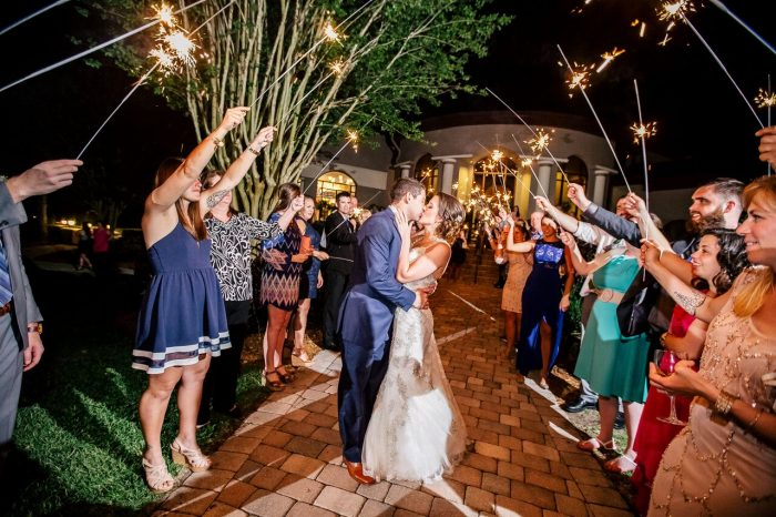 wedding dj fun at mystic dunes resort wedding grand sparkler exit