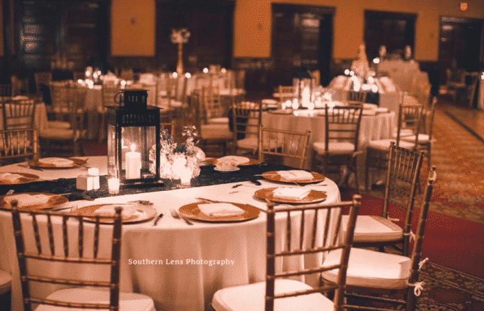 orlando wedding dj, Our DJ Rocks, at Ballroom at Church Street wedding reception set up