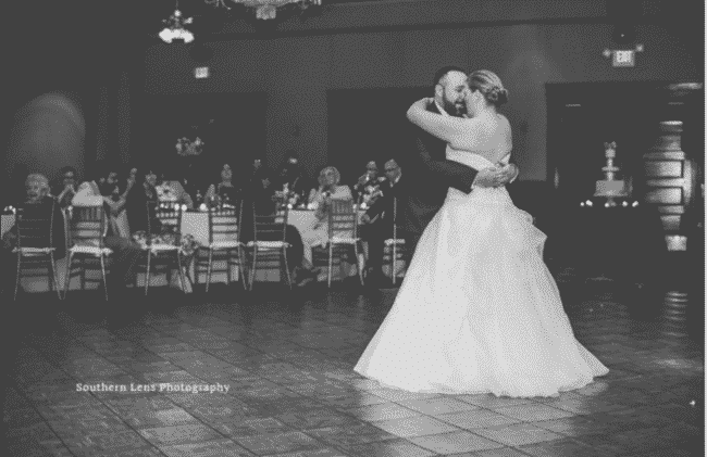 orlando wedding dj, Our DJ Rocks, at Ballroom at Church Street wedding bride and groom first dance