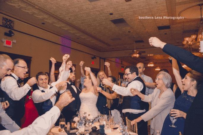 orlando wedding dj, Our DJ Rocks, at Ballroom at Church Street wedding reception dancing