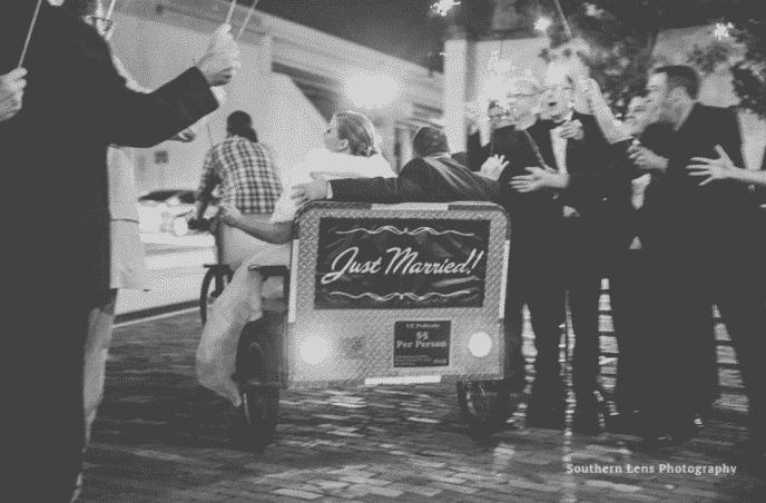 orlando wedding dj, Our DJ Rocks, at Ballroom at Church Street wedding grand sparkler exit