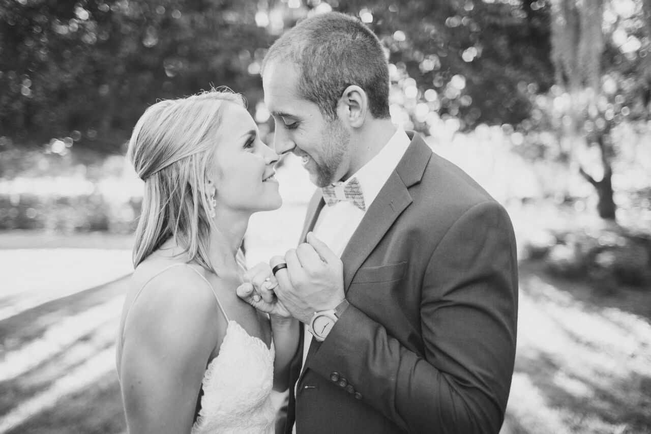 wedding dj at Cypress Grove Estate House wedding bride and groom