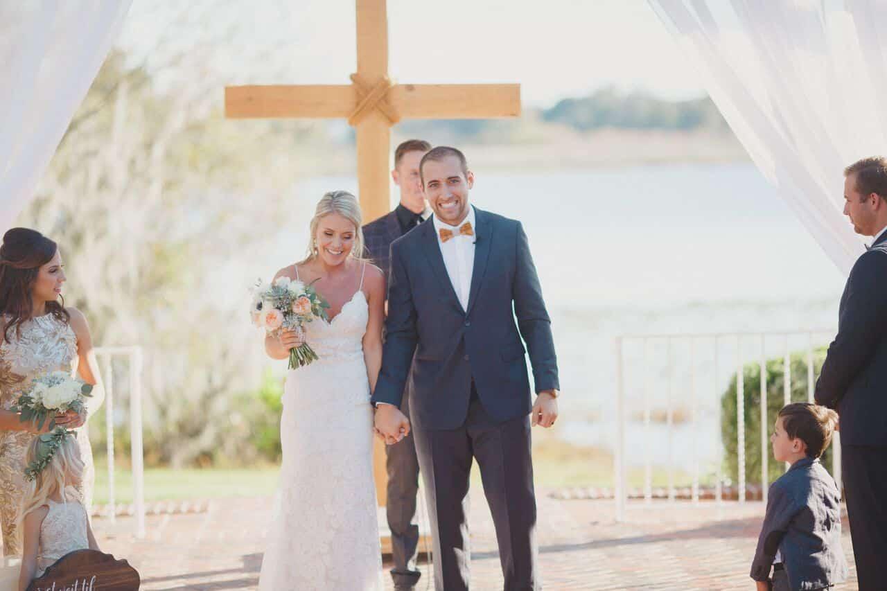 wedding dj at Cypress Grove Estate House wedding ceremony
