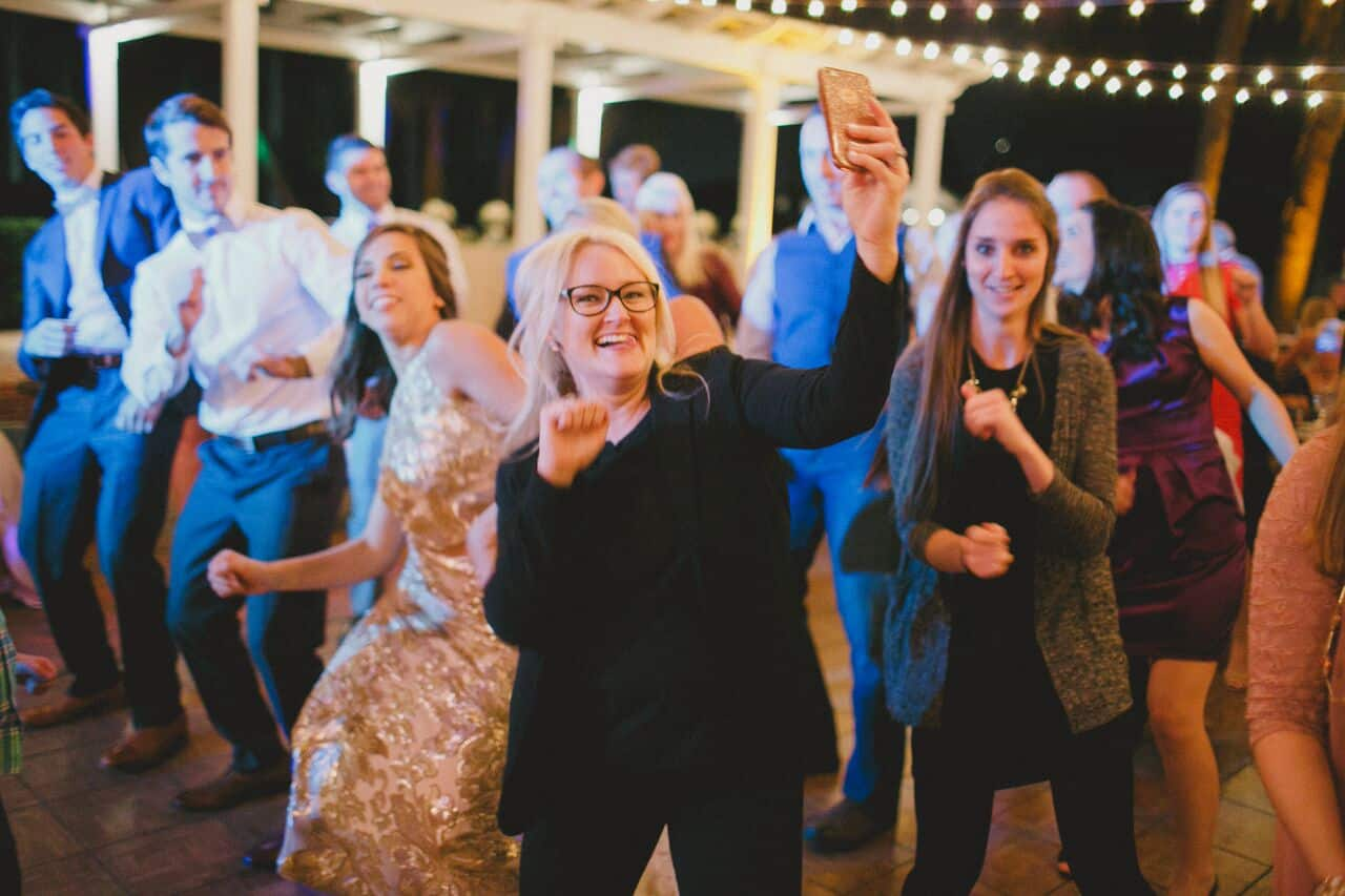 wedding dj, Kristin from Our DJ Rocks, at Cypress Grove Estate House wedding reception
