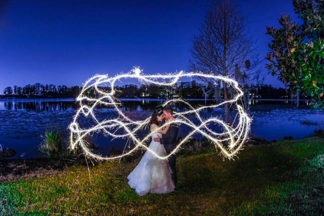 wedding dj fun at Cypress Grove Estate House wedding bride and groom photos
