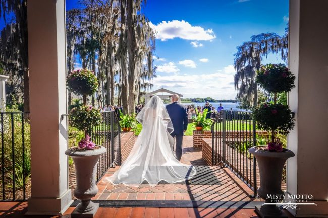wedding dj fun at Cypress Grove Estate House wedding bride and groom wedding ceremony