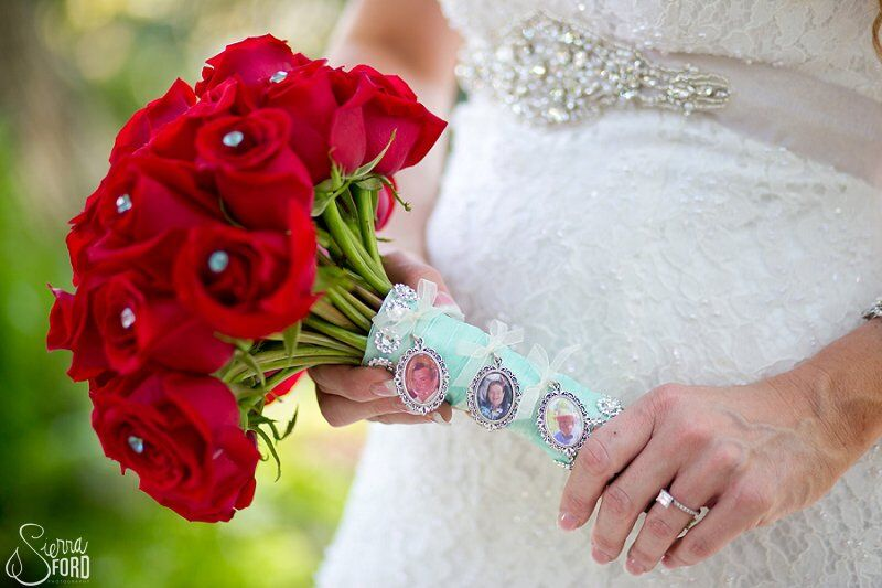 wedding dj service at Tavares Pavilion on the Lake wedding dress the red bouquet