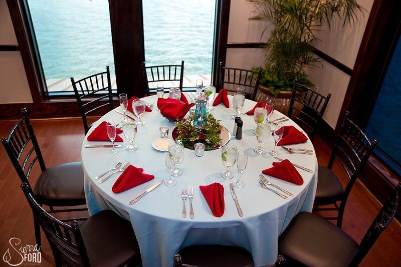 wedding dj service at Tavares Pavilion on the Lake wedding table reception decor