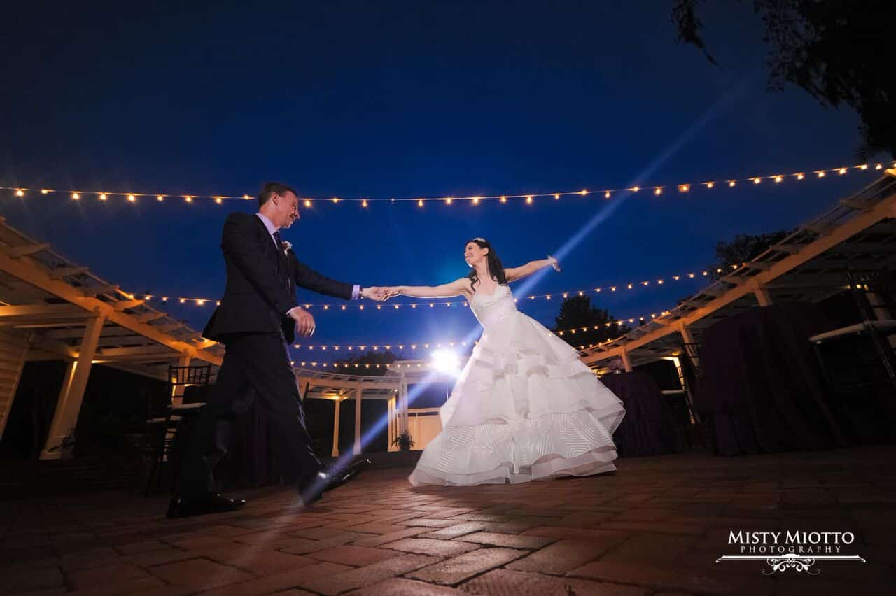 wedding dj fun at Cypress Grove Estate House wedding bride and groom first dance