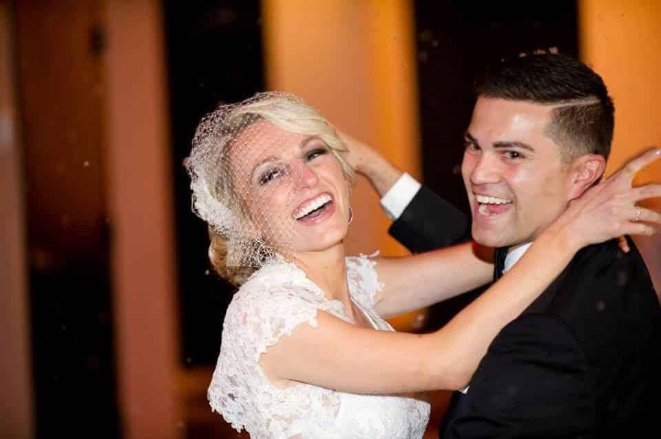 orlando wedding DJ at the Mezz NYE wedding bride and groom dancing