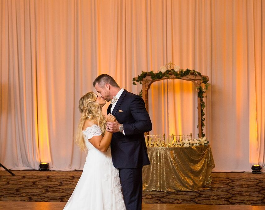 Orlando DJ Experience – Holy Trinity Wedding – Amber Uplighting