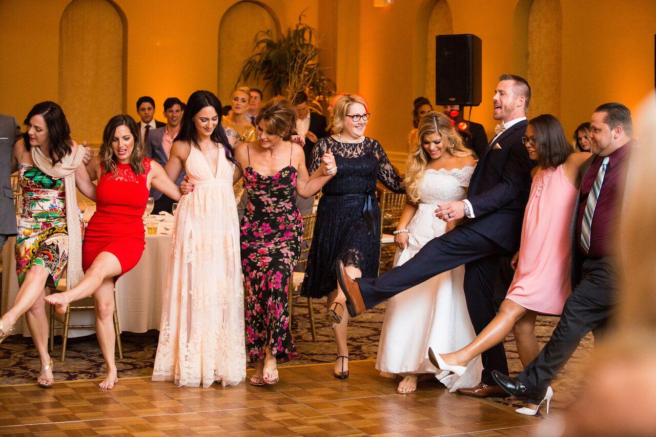 orlando wedding dj experience at holy trinity reception center reception dancing with amber uplighting
