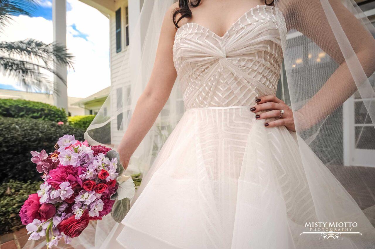 wedding dj fun at Cypress Grove Estate House wedding bride in dress