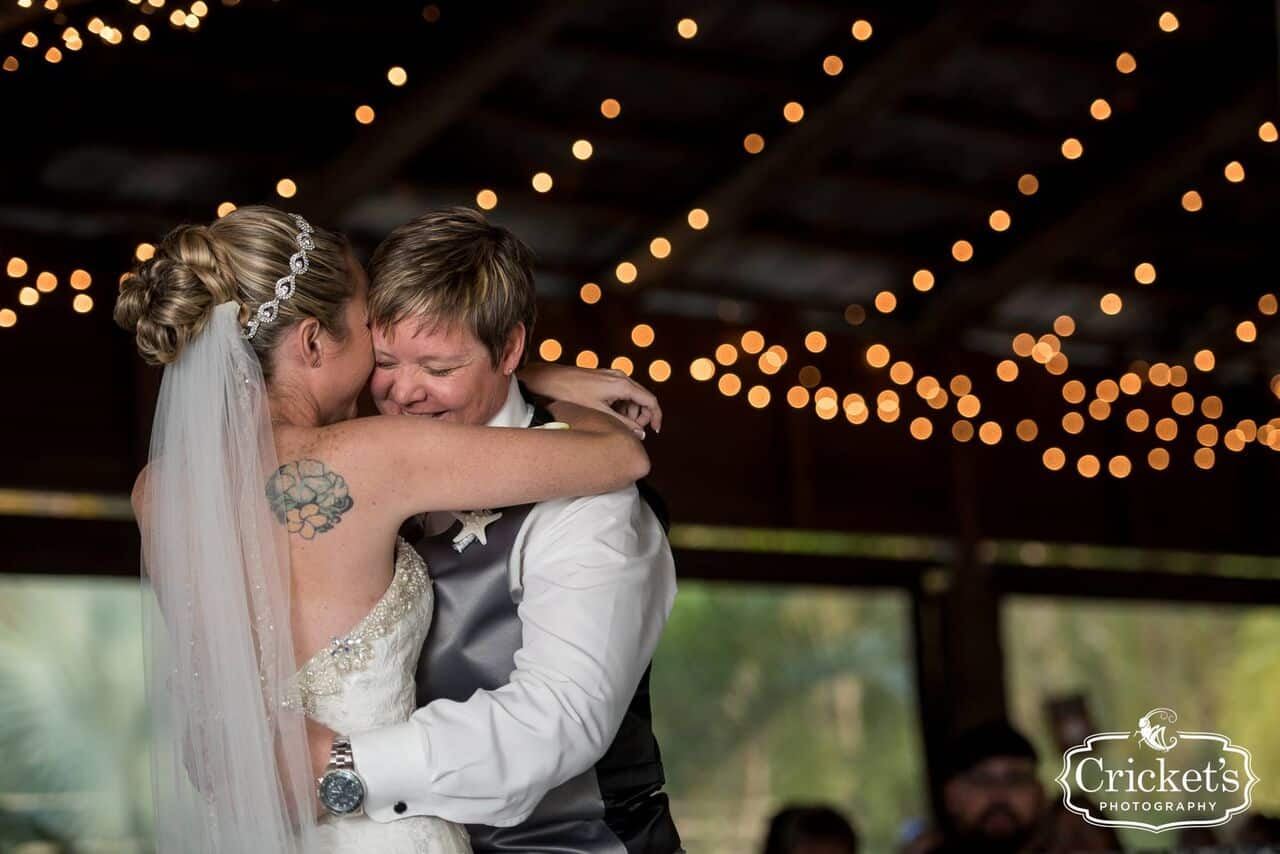 vendors who rock Crickets photography two brides first dance