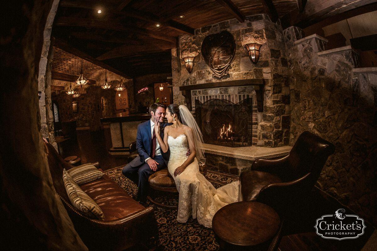 vendors who rock Crickets photography bride and groom indoor shot at bella collina