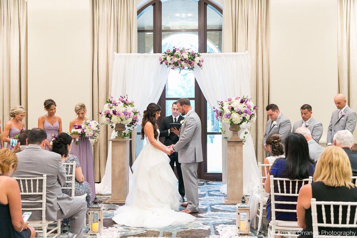 Wedding DJ in Orlando at Four Seasons Resort at wedding ceremony