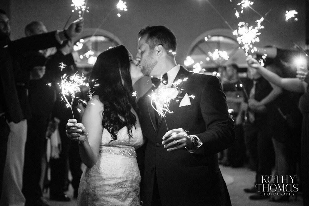 dancing on a cloud at Alfond Inn wedding grand sparkler exit