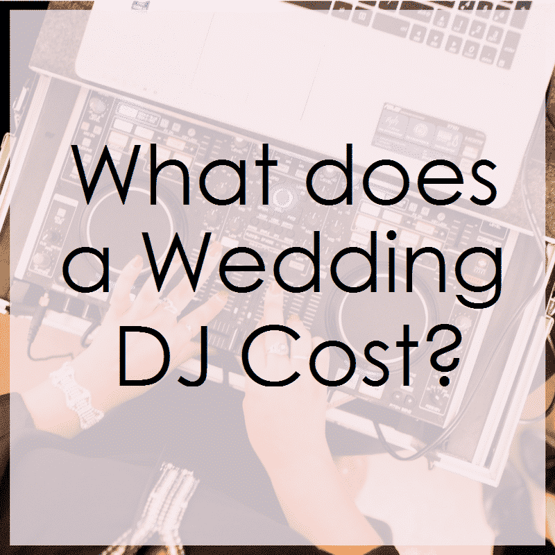 what do wedding djs cost