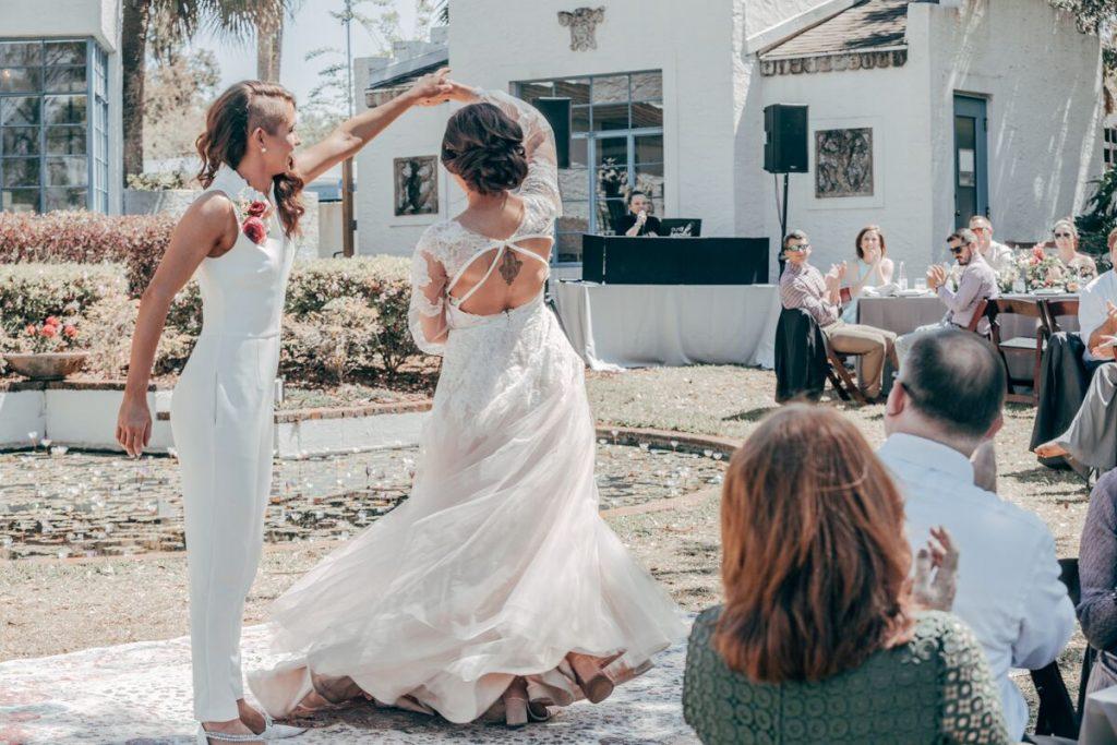 brides dancing at their wedding