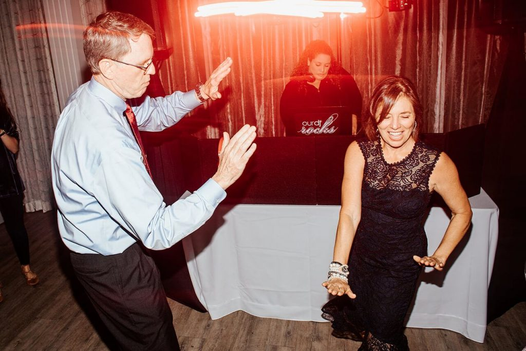 DJ Tabitha keeping the dance floor full