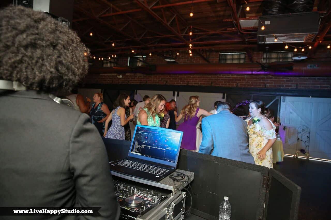 DJ Cierra working the mic