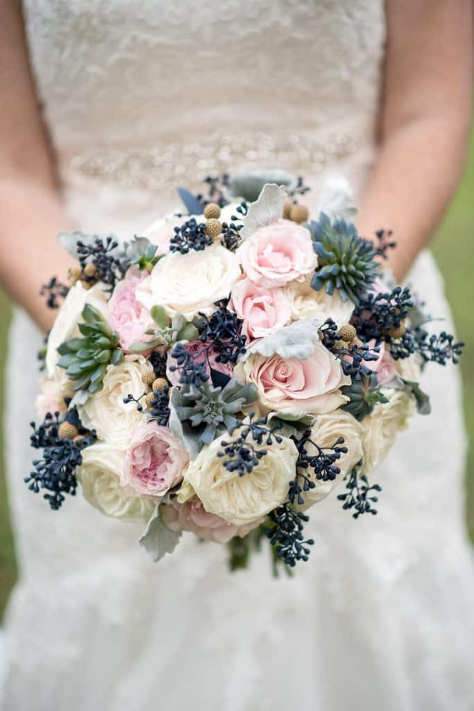 Courtney's beautiful pink and purple bouquet
