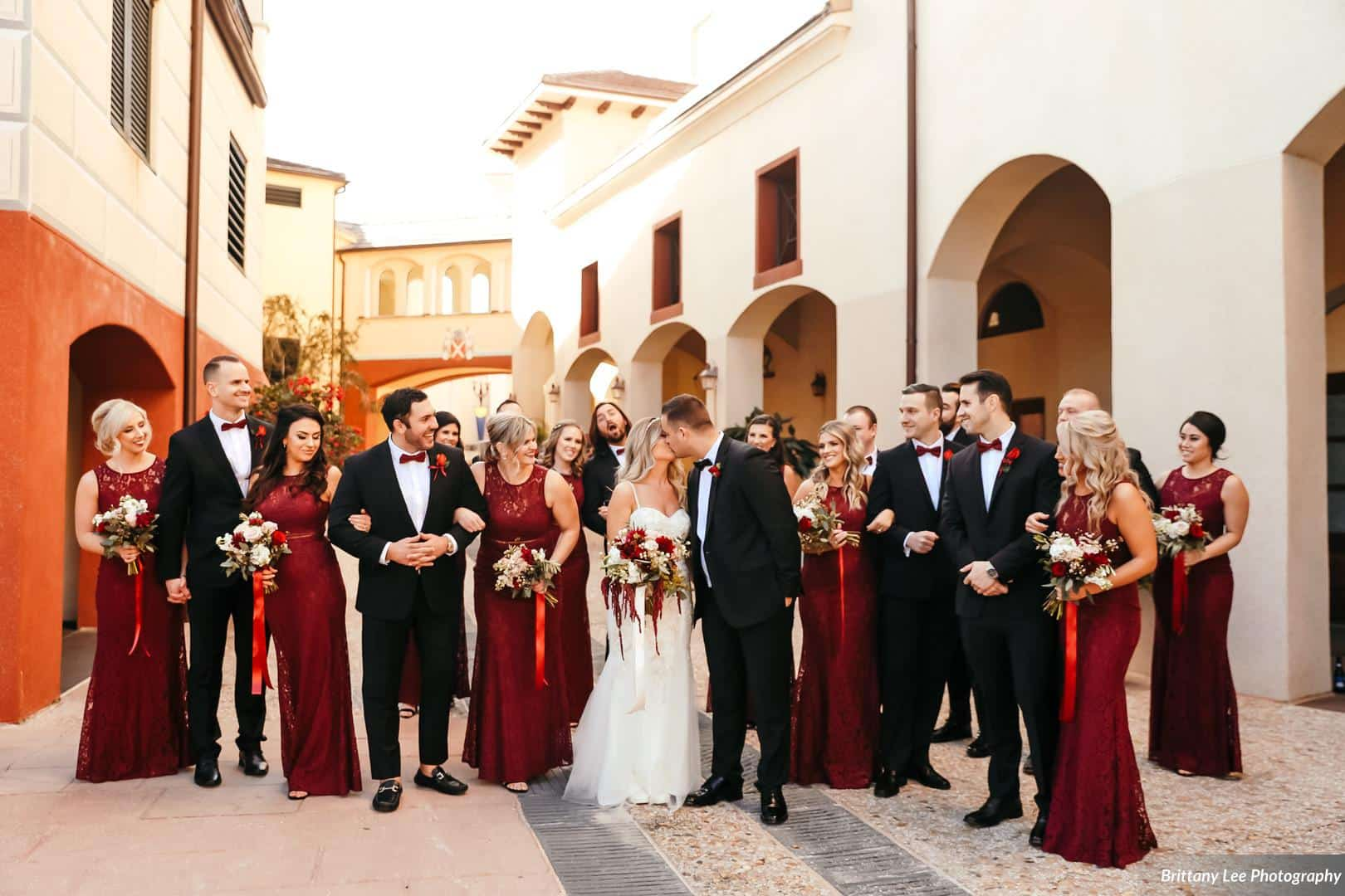 Alex and Kim celebrated their love with a beautiful ceremony at Portofino Bay Hotel.