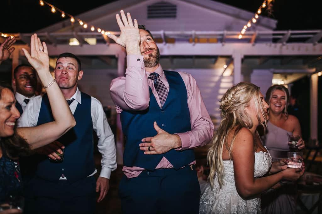 Scott getting down on the dance floor.