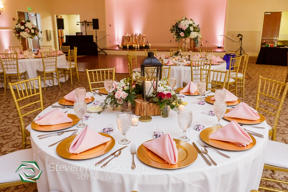 Grace + Ryan's perfectly pink wedding reception at Lake Mary Events Center
