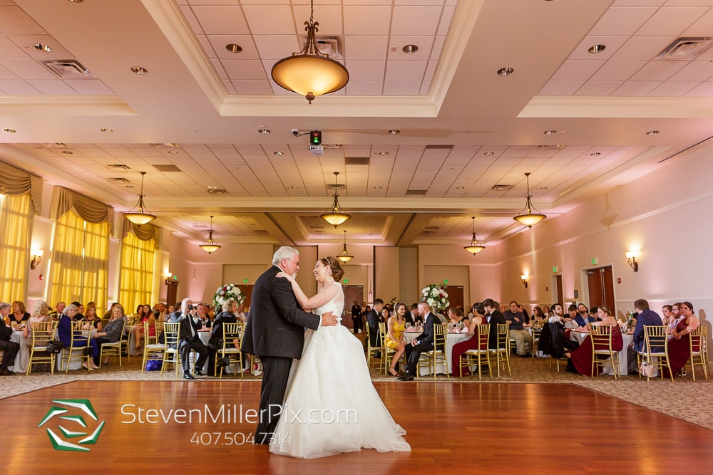 Bride Grace dancing with her father