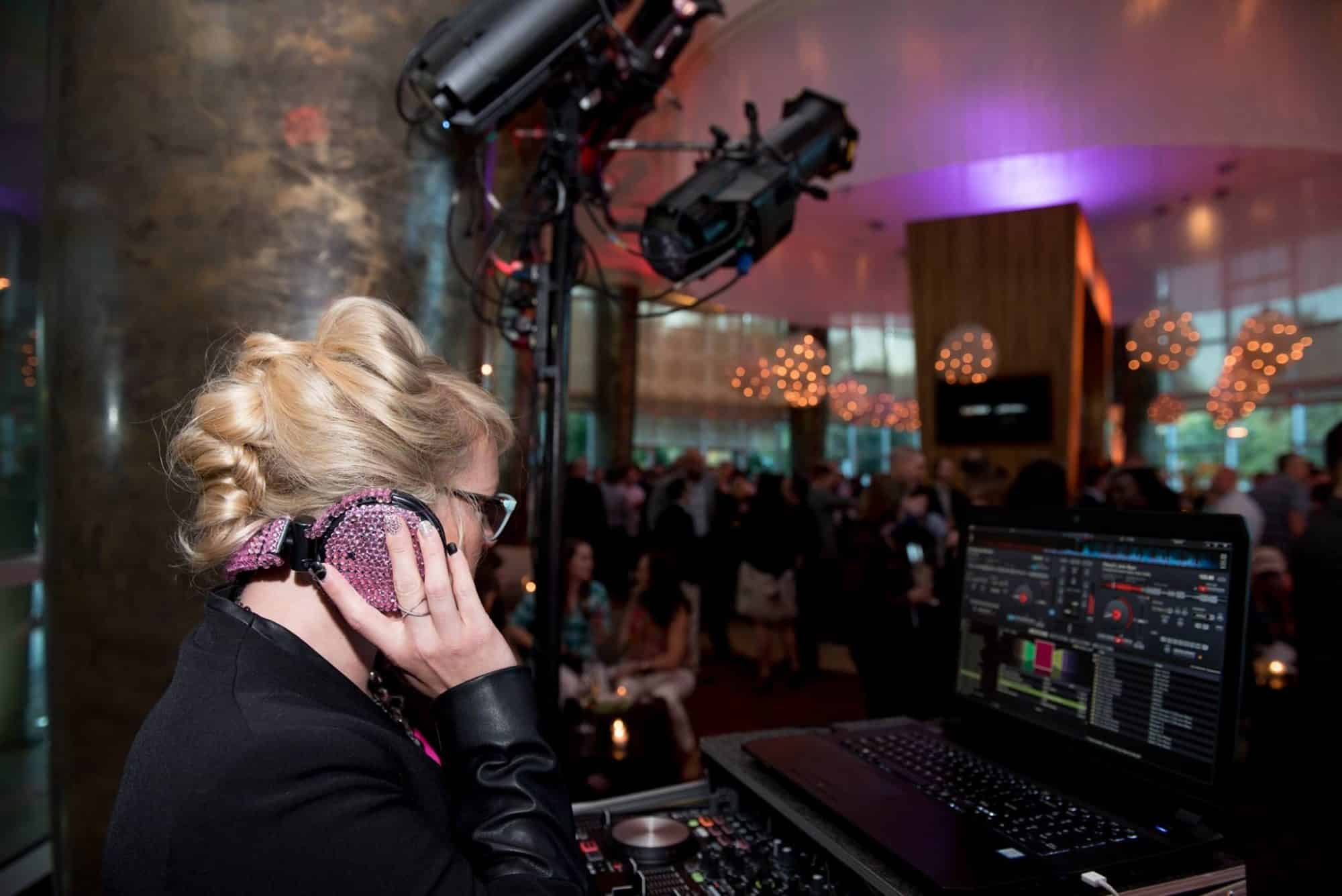 DJ Kristin at corporate event